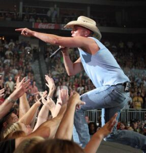 Kenny Chesney during a performance in Jacksonville, Florida. /Courtesy • flickr