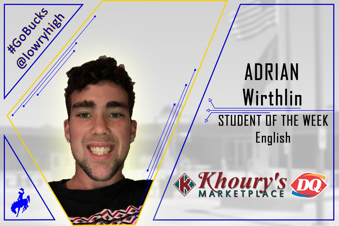 Mrs. Santos announces Adrian Wirthlin as English Student of the Week