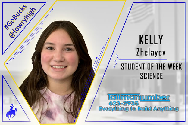 Kelly Zhelayev selected Science Student of the Week