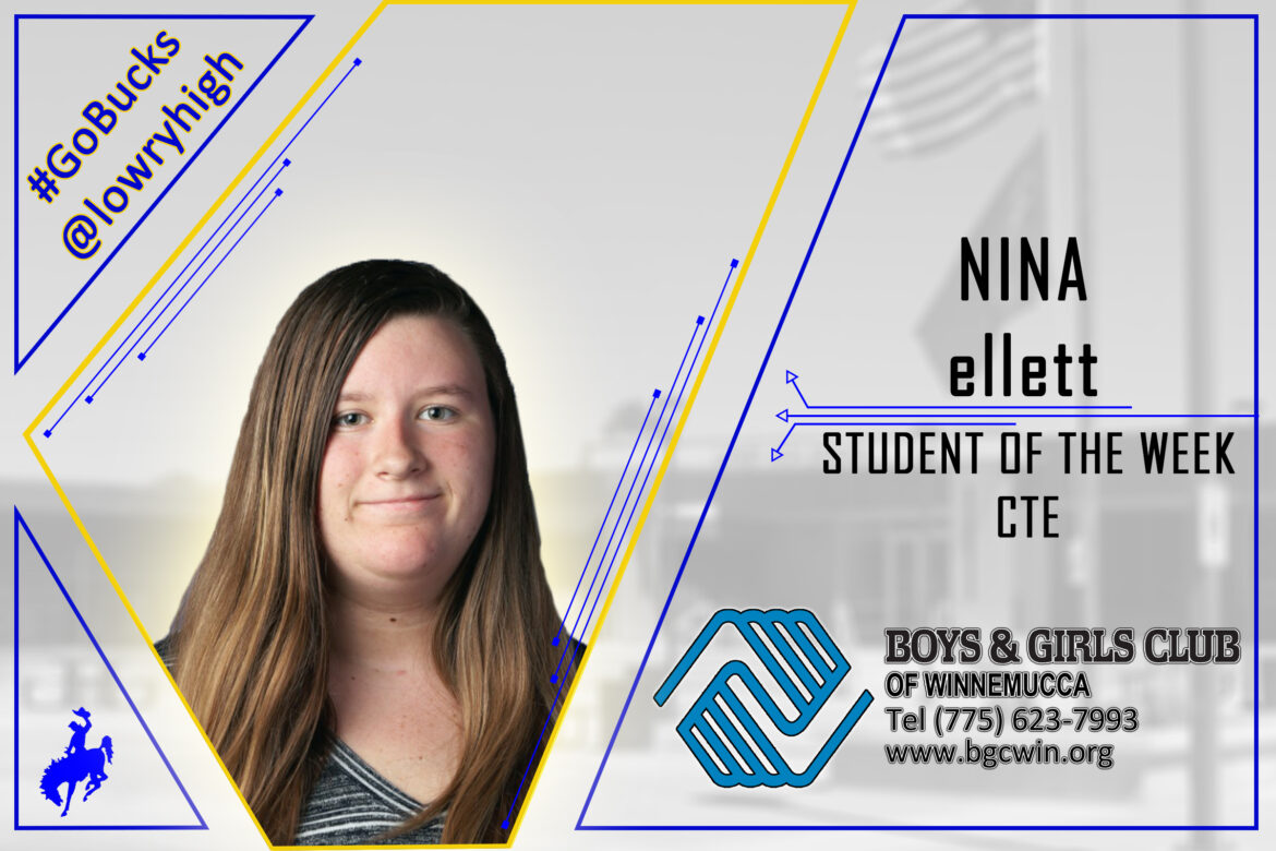 CTE Student of the Week named