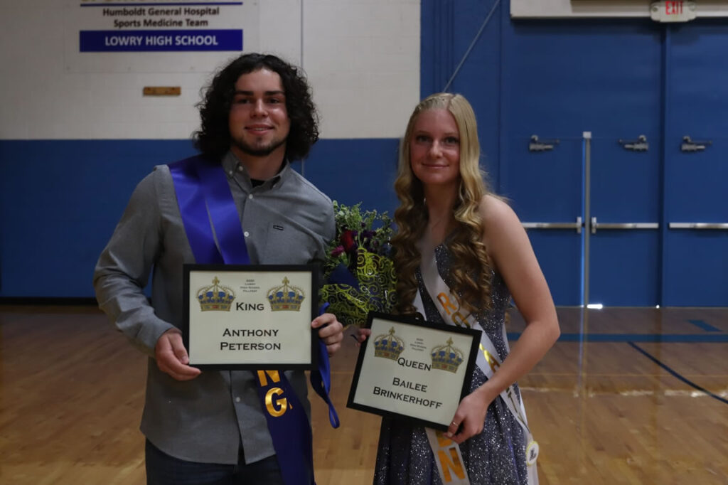 Lowry's Fall Fest King and Queen Anthony Peterson and Bailee Brinkerhoff / Ron Espinola • Lowry Multimedia Communication
