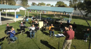 The band practicing at Vesco Park. /Courtesy • Dave Munk