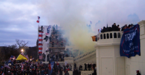 Tear gas outside the United States Capitol on 6 January 2021. /Courtesy • Tyler Merbler from Wikimedia