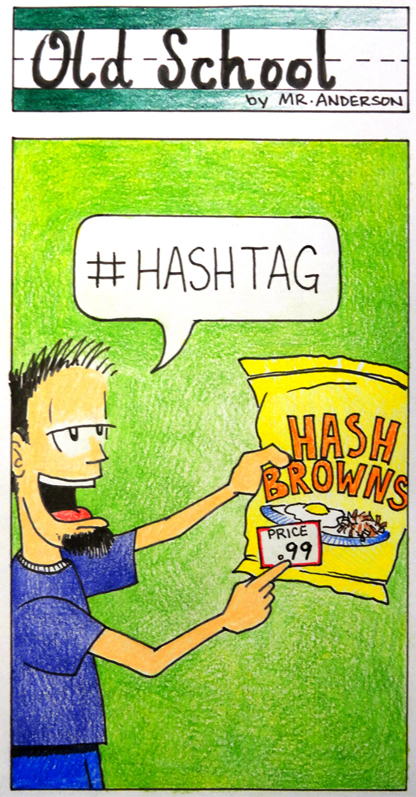 Old School Hashtag
