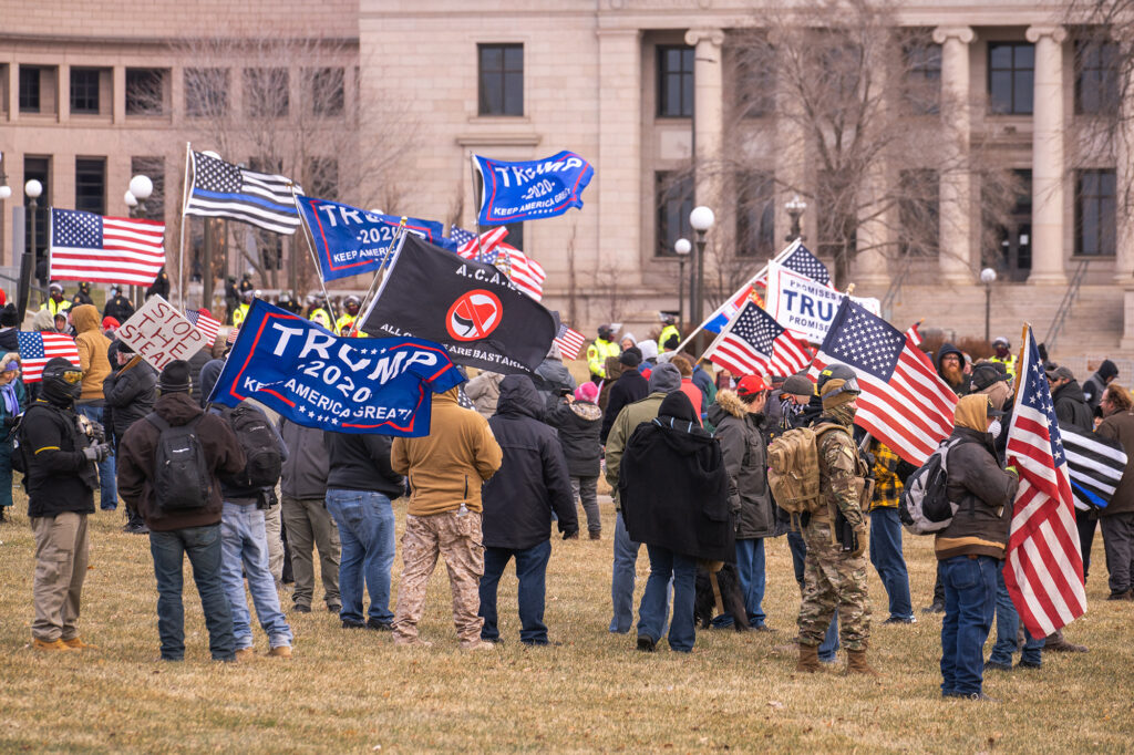 A Stop the Steal rally in St. Paul Minnesota on Dec 13, 2020./Courtesy • Chad Davis via flickr