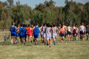 Runners at the start of the 2019 Bob Firman Cross Country Invitational./Courtesy • Annie Drake