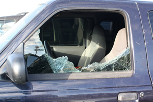 Cars vandalized in parking lot