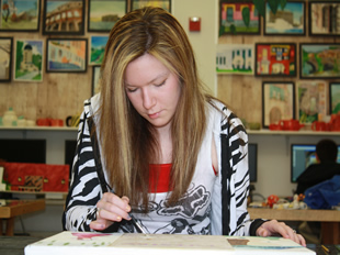 Senior Chelsea Robison, leading the way for future artists