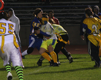 Powderpuff football offers surprising win