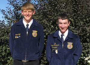 FFA members Shane Bell and Lance Thompson. /Courtesy • Beth Thompson