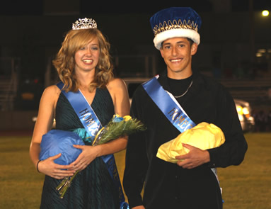 Covarrubias and Studebaker named Homecoming King and Queen