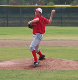 Bobby Jones pitching for the GNBC Badgers summer team. /Ron Espinola • The Brand