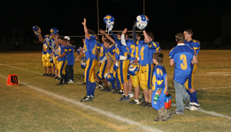 The jv team thanks their fans after their season-ending win against Spring Creek on October 30, 2008./Ron Espinola • The Brand