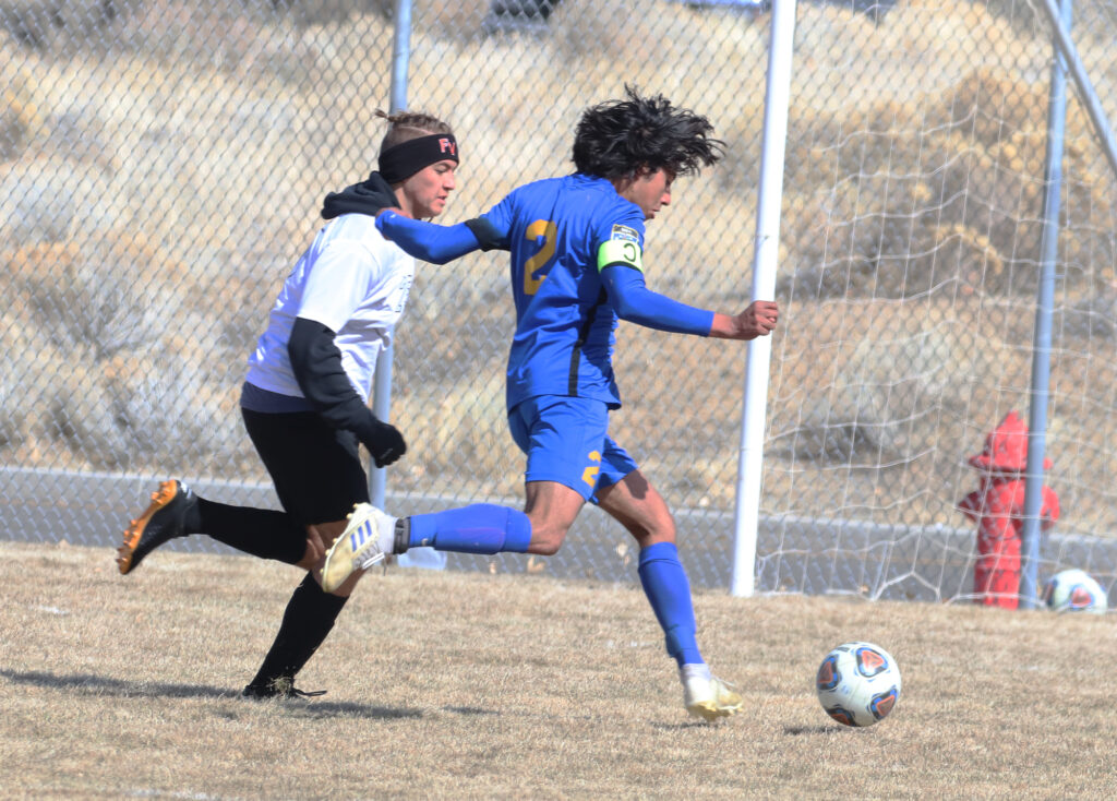 Christian Cuevas lines up a shot on goal. /Ron Espinola • The Brand