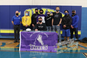 Kole Mattson at his college signing with family and coaches. /Ron Espinola • The Brand