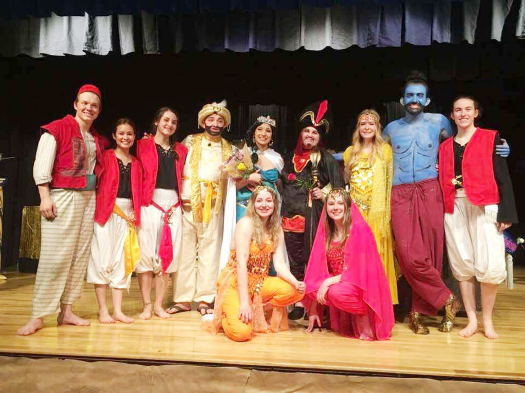 """The actors of """"Aladdin"""" after the play./Courtesy • Fernando and Maria Galindo"""