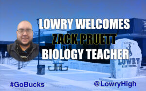 Zack Pruett, new science teacher. /Ron Espinola • The Brand