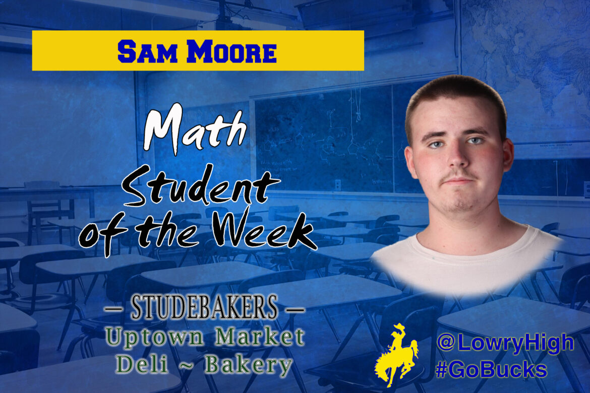 Student of the Week: Sam Moore