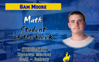 Sam Moore, Student of the Week