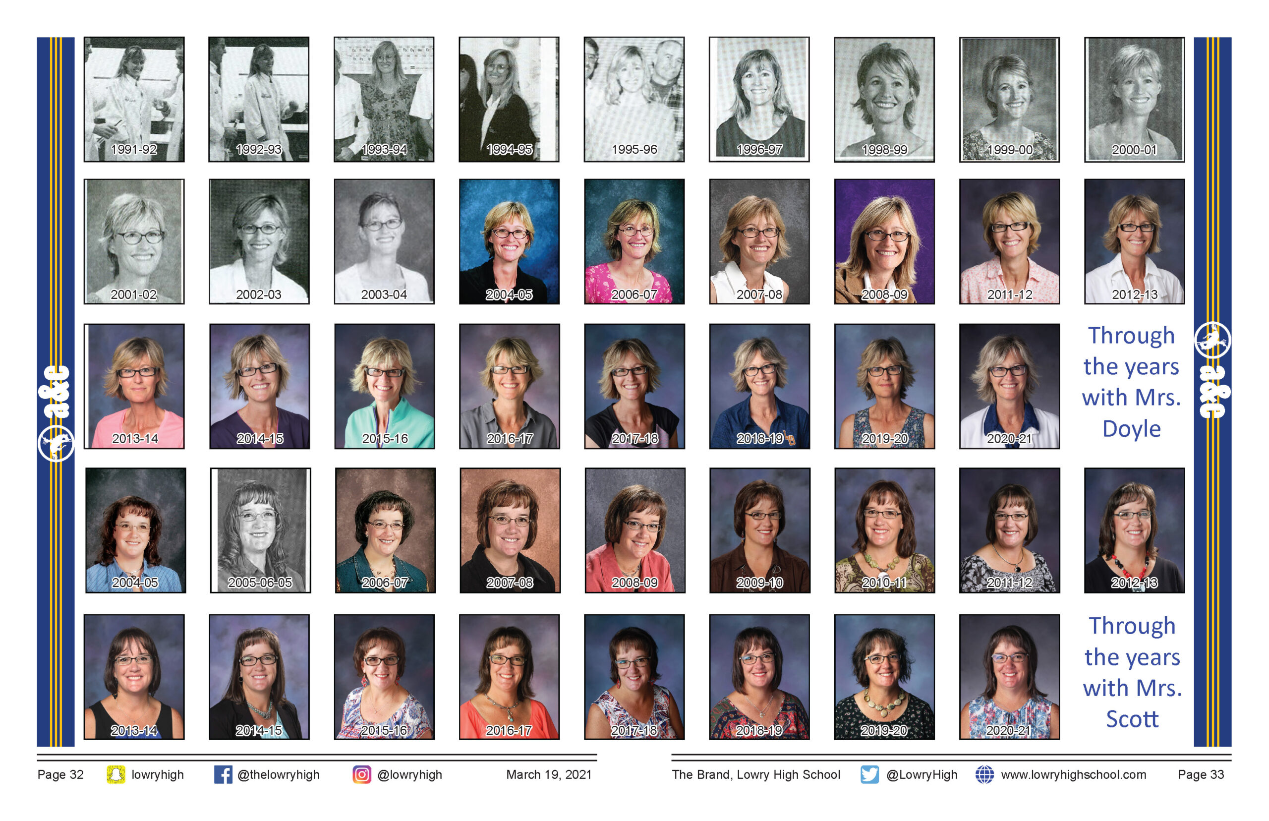 Through the years with Mrs. Doyle and Mrs. Scott