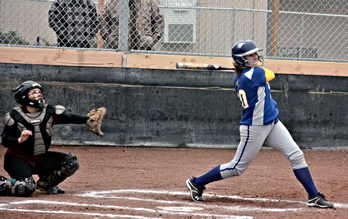 Lowry softball combats the elements and defeats West Wendover