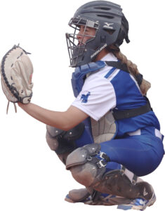 Alexus Gomez catching during a game this year. /Ron Espinola • The Brand