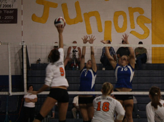 Varsity volleyball makes home debut