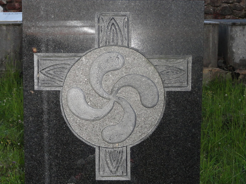 Lauburu is the design that is found on many Basque tombs. /Courtesy • Criswell Family
