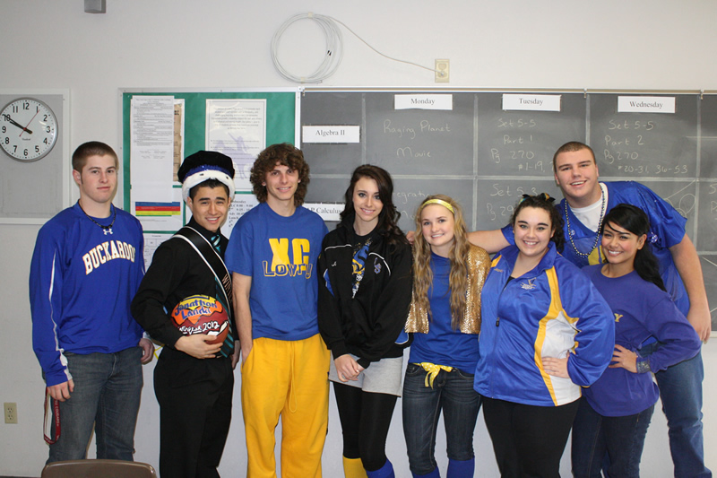 Calculus students on Blue and Gold Day. /Brandon Eastman • The Brand