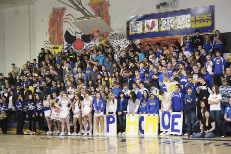 Sophomore class at the Friday Pep Assembly. /Madison Waldie • The Brand