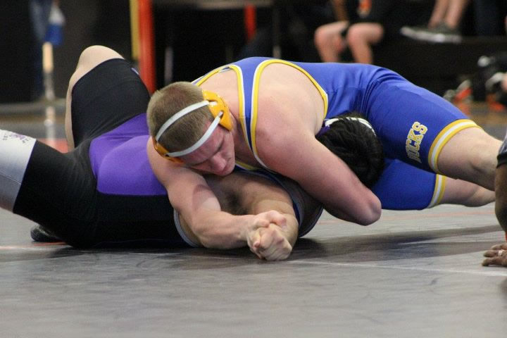 Cody Andersen pins his opponent with a Utah. /Courtesy • Tim Grady