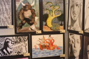 Some of the artwork on display. /Justin Albright • The Brand