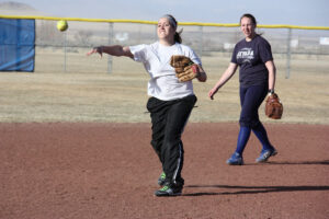 Hana Etcheverry throws the ball during practice. /Courtesy • Winnada