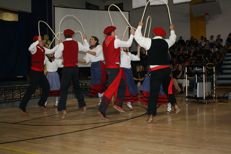 The Basque dancers performing at the Academic Assembly. /Ron Espinola • The Brand