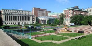 Columbia University's Morningside Heights campus as seen from the northeast. /Beyond My Ken • Wikimedia