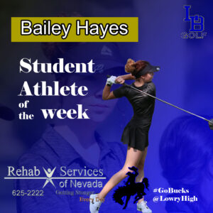 Bailey Hayes, Athlete of the Week