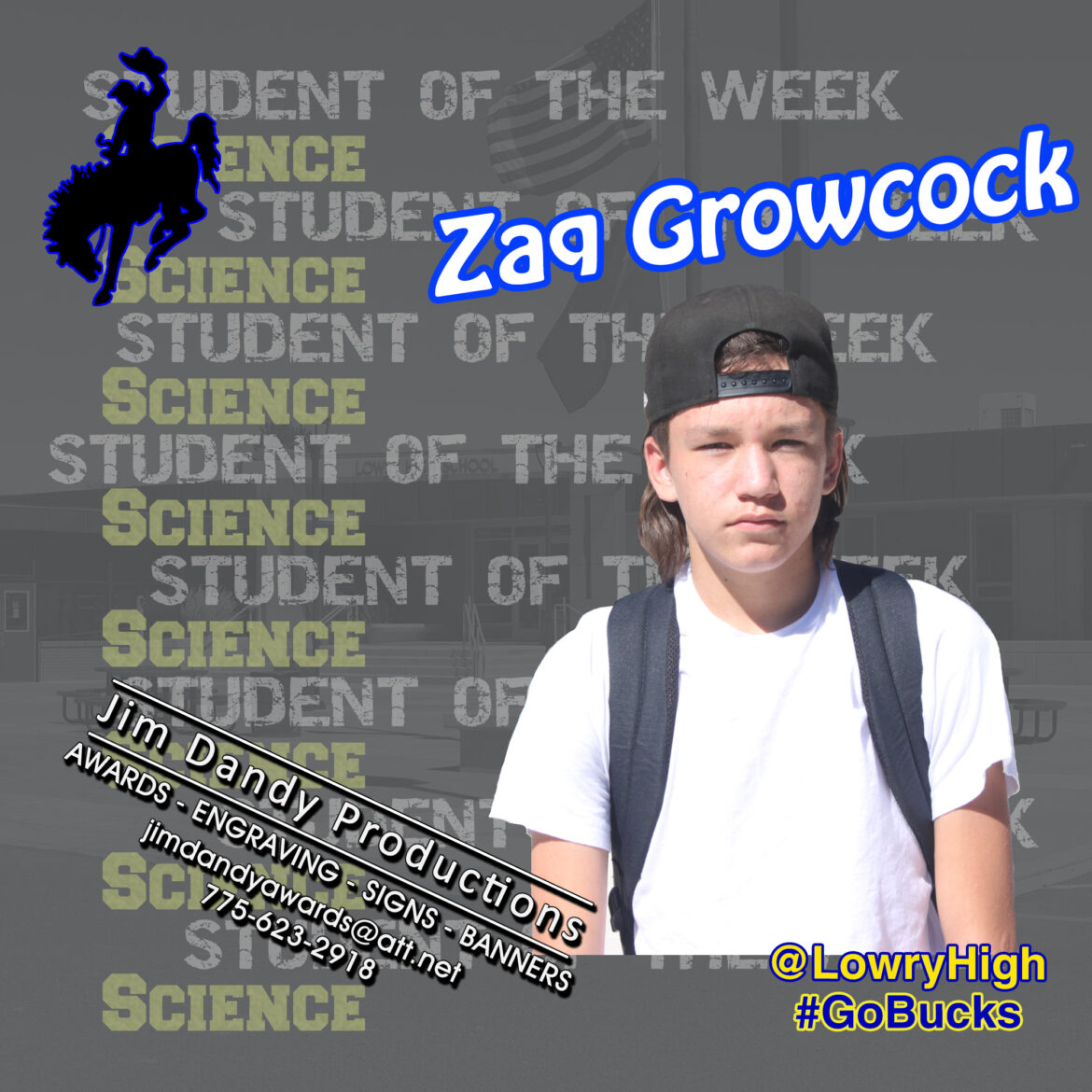 Zaquery Growcock named Student of the Week in Science