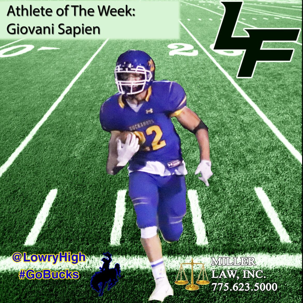 Giovani Sapien selected as Athlete of the Week