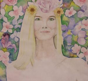 A painting by Araceli Rivas./Faith Holland • Lowry Digital Media