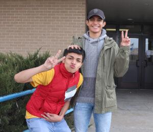 Eddie Leon (R) with his Support Human DeAndre Solis./Ron Espinola • Lowry Digital Media