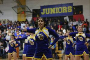 Cynthia Magaña performing at the kickoff Homecoming assembly./Courtesy • Winnada