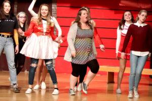 "Briana Roederer (center) performs during ""High School Musical"". /Octavio Ruiz • Lowry Digital Media"