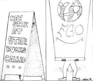 Starbucks New Size by Colton De La Mora