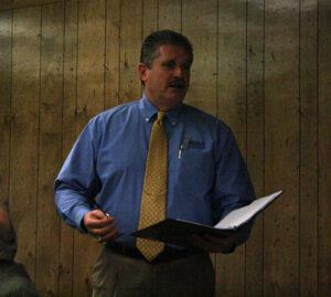 Eddie Bonine, the Executive Director of the NIAA,at the HCSD School Board, January 26, 2010/Ben Norfolk • The Brand