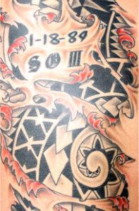 Example of Mr. Cabatbat's tattoos. Ron Espinola • The Brand