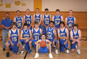 Lowry's 2008-2009 Boys basketball team. /Courtesy • Winnada