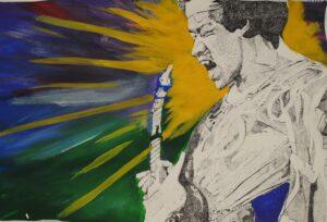 """""""Jimi in Lights"""" by Araceli Rivas"""