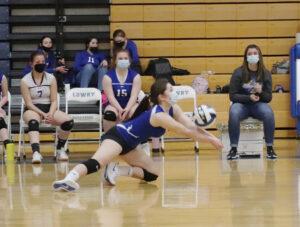 Kelley Zhelayev saves the ball. /Ron Espinola • The Brand