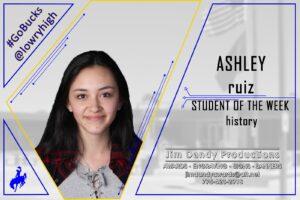 Student of the Week: Ashley Ruiz