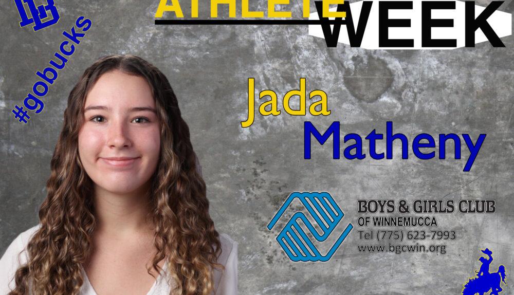 Jada Matheny, Athlete of the Week